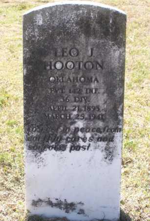 HOOTEN (VETERAN WWI), LEO J. - Lawrence County, Arkansas | LEO J. HOOTEN (VETERAN WWI) - Arkansas Gravestone Photos