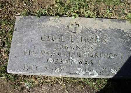 HORN, SR. (VETERAN WWI), CECIL LEONIDAS - Lawrence County, Arkansas | CECIL LEONIDAS HORN, SR. (VETERAN WWI) - Arkansas Gravestone Photos