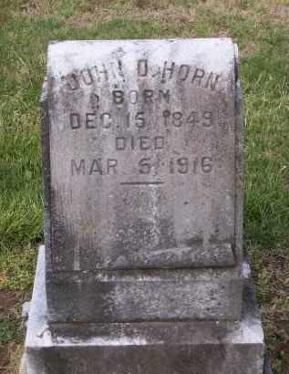 HORN, JOHN D. - Lawrence County, Arkansas   JOHN D. HORN - Arkansas Gravestone Photos
