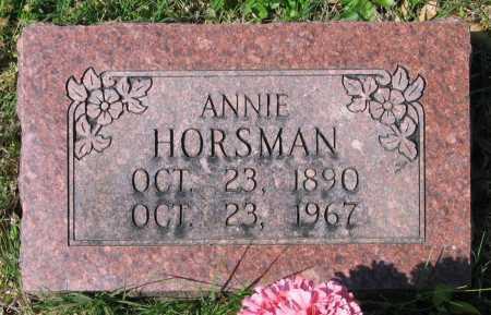 HORSMAN, ANNIE - Lawrence County, Arkansas   ANNIE HORSMAN - Arkansas Gravestone Photos