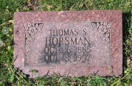 HORSMAN, THOMAS SPURLIN - Lawrence County, Arkansas | THOMAS SPURLIN HORSMAN - Arkansas Gravestone Photos