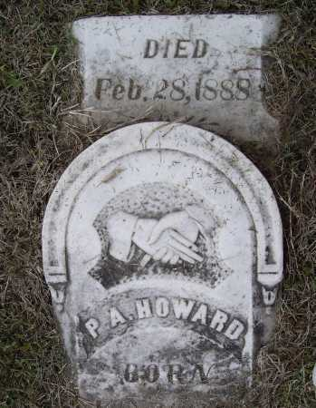 "HOWARD, PHILLIP A. ""P. A."" - Lawrence County, Arkansas | PHILLIP A. ""P. A."" HOWARD - Arkansas Gravestone Photos"
