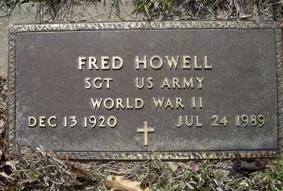 HOWELL (VETERAN WWII), FRED - Lawrence County, Arkansas | FRED HOWELL (VETERAN WWII) - Arkansas Gravestone Photos