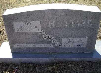 WRIGHT HUBBARD, REATHA MARY FRANCES - Lawrence County, Arkansas | REATHA MARY FRANCES WRIGHT HUBBARD - Arkansas Gravestone Photos