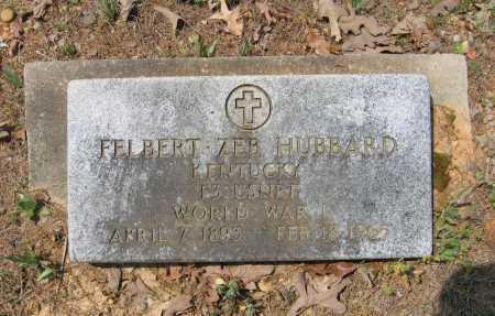 HUBBARD (VETERAN WWI), FELBERT ZEB - Lawrence County, Arkansas   FELBERT ZEB HUBBARD (VETERAN WWI) - Arkansas Gravestone Photos