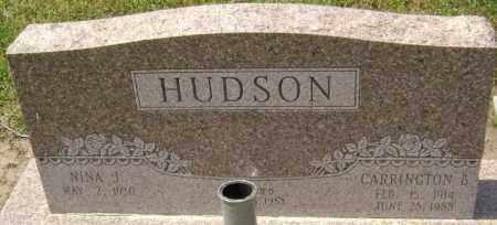 HUDSON, CARRINGTON BROWN - Lawrence County, Arkansas | CARRINGTON BROWN HUDSON - Arkansas Gravestone Photos