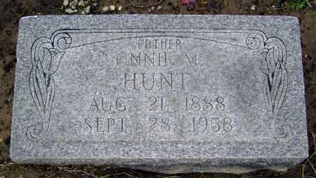 HUNT, ONNIE M. - Lawrence County, Arkansas   ONNIE M. HUNT - Arkansas Gravestone Photos