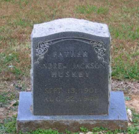 HUSKEY, ANDREW JACKSON - Lawrence County, Arkansas | ANDREW JACKSON HUSKEY - Arkansas Gravestone Photos