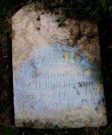 HUTCHERSON, JAMES L. - Lawrence County, Arkansas   JAMES L. HUTCHERSON - Arkansas Gravestone Photos