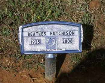 HUTCHISON, BEATRES - Lawrence County, Arkansas | BEATRES HUTCHISON - Arkansas Gravestone Photos