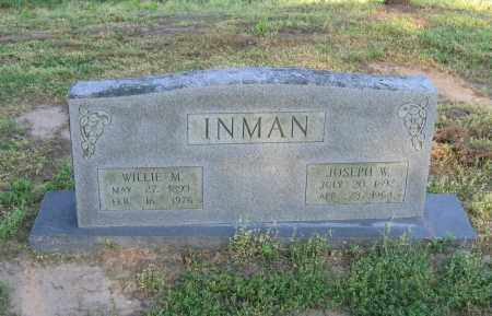 INMAN, WILLIE M. - Lawrence County, Arkansas | WILLIE M. INMAN - Arkansas Gravestone Photos
