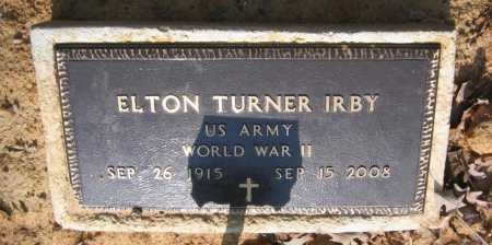 IRBY (VETERAN WWII), ELTON TURNER - Lawrence County, Arkansas | ELTON TURNER IRBY (VETERAN WWII) - Arkansas Gravestone Photos