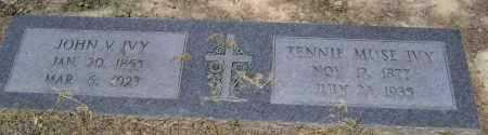 IVY, JOHN V. - Lawrence County, Arkansas | JOHN V. IVY - Arkansas Gravestone Photos