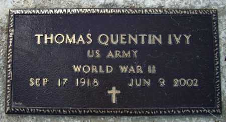 IVY (VETERAN WWII), THOMAS QUENTIN - Lawrence County, Arkansas   THOMAS QUENTIN IVY (VETERAN WWII) - Arkansas Gravestone Photos