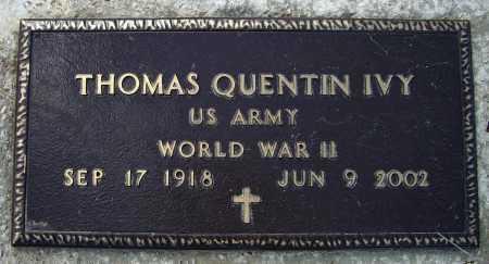 IVY (VETERAN WWII), THOMAS QUENTIN - Lawrence County, Arkansas | THOMAS QUENTIN IVY (VETERAN WWII) - Arkansas Gravestone Photos