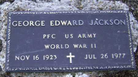 JACKSON  (VETERAN WWII), GEORGE EDWARD - Lawrence County, Arkansas | GEORGE EDWARD JACKSON  (VETERAN WWII) - Arkansas Gravestone Photos
