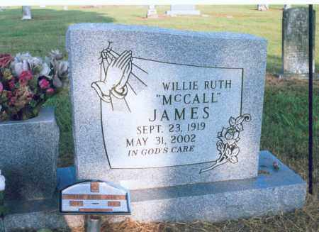 MCCALL JAMES, WILLIE RUTH - Lawrence County, Arkansas | WILLIE RUTH MCCALL JAMES - Arkansas Gravestone Photos