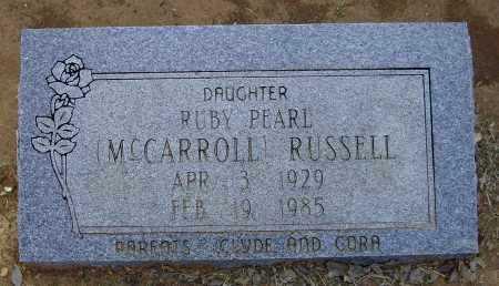 RUSSELL, RUBY PEARL MCCARROLL JARRETT - Lawrence County, Arkansas | RUBY PEARL MCCARROLL JARRETT RUSSELL - Arkansas Gravestone Photos