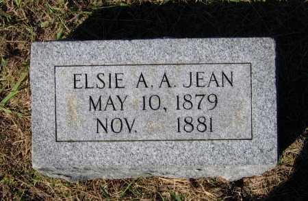 JEAN, ELSIE A. A. - Lawrence County, Arkansas | ELSIE A. A. JEAN - Arkansas Gravestone Photos