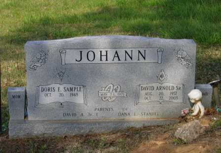 JOHANN, SR., DAVID ARNOLD - Lawrence County, Arkansas   DAVID ARNOLD JOHANN, SR. - Arkansas Gravestone Photos