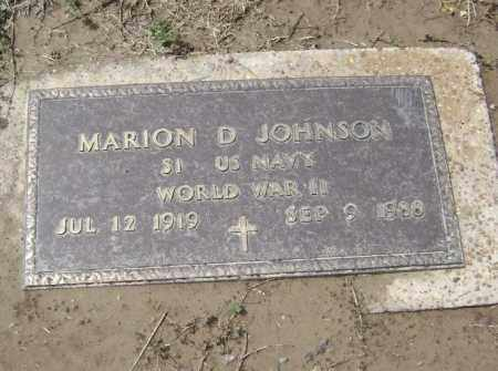 JOHNSON  (VETERAN WWII), MARION D. - Lawrence County, Arkansas | MARION D. JOHNSON  (VETERAN WWII) - Arkansas Gravestone Photos