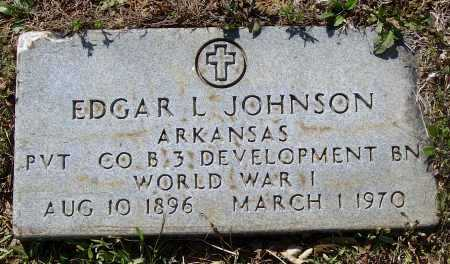 JOHNSON (VETERAN WWI), EDGAR LEE - Lawrence County, Arkansas | EDGAR LEE JOHNSON (VETERAN WWI) - Arkansas Gravestone Photos