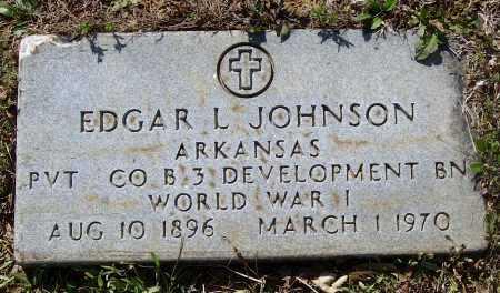 JOHNSON (VETERAN WWI), EDGAR LEE - Lawrence County, Arkansas | EDGAR LEE JOHNSON (VETERAN WWI) - Arkansas Gravestone Photos