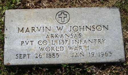 JOHNSON (VETERAN WWI), MARVIN WESLEY - Lawrence County, Arkansas | MARVIN WESLEY JOHNSON (VETERAN WWI) - Arkansas Gravestone Photos