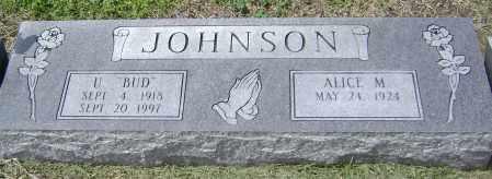 "JOHNSON, JESSE ULLIES  ""U BUD"" - Lawrence County, Arkansas | JESSE ULLIES  ""U BUD"" JOHNSON - Arkansas Gravestone Photos"
