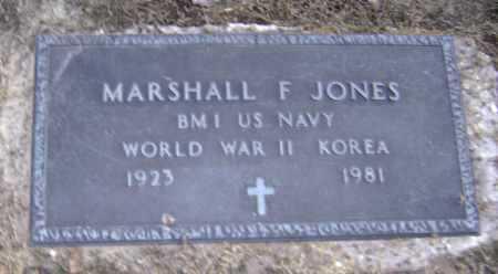 JONES  (VETERAN 2 WARS), MARSHALL FREDERICK - Lawrence County, Arkansas | MARSHALL FREDERICK JONES  (VETERAN 2 WARS) - Arkansas Gravestone Photos