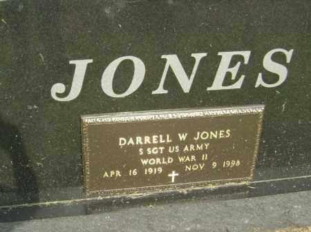 JONES (VETERAN WWII), DARRELL WARREN - Lawrence County, Arkansas | DARRELL WARREN JONES (VETERAN WWII) - Arkansas Gravestone Photos
