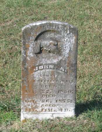JONES, JOHN A. - Lawrence County, Arkansas | JOHN A. JONES - Arkansas Gravestone Photos