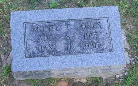 JONES, MONTE T. - Lawrence County, Arkansas   MONTE T. JONES - Arkansas Gravestone Photos
