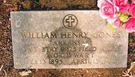 JONES (VETERAN WWI), WILLIAM HENRY - Lawrence County, Arkansas | WILLIAM HENRY JONES (VETERAN WWI) - Arkansas Gravestone Photos
