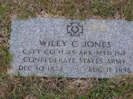 JONES (VETERAN CSA), WILEY C. - Lawrence County, Arkansas | WILEY C. JONES (VETERAN CSA) - Arkansas Gravestone Photos