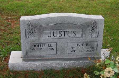 JUSTUS, IVIE FRANKLIN - Lawrence County, Arkansas | IVIE FRANKLIN JUSTUS - Arkansas Gravestone Photos