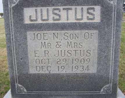"JUSTUS, JOSEPH N. ""JOE N."" - Lawrence County, Arkansas | JOSEPH N. ""JOE N."" JUSTUS - Arkansas Gravestone Photos"