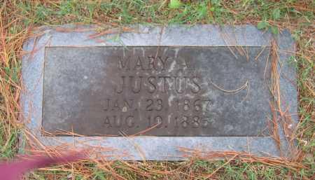 JUSTUS, MARY A. - Lawrence County, Arkansas | MARY A. JUSTUS - Arkansas Gravestone Photos