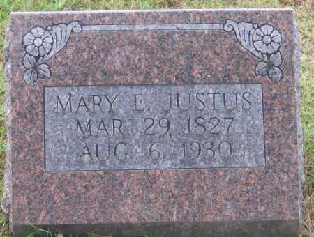 JUSTUS, MARY ELIZABETH - Lawrence County, Arkansas | MARY ELIZABETH JUSTUS - Arkansas Gravestone Photos