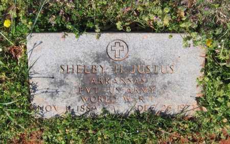 JUSTUS (VETERAN WWI), SHELBY HODGE - Lawrence County, Arkansas   SHELBY HODGE JUSTUS (VETERAN WWI) - Arkansas Gravestone Photos