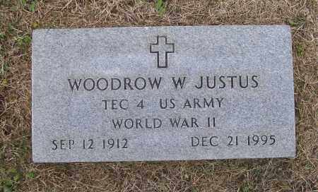 JUSTUS (VETERAN WWII), WOODROW WILSON - Lawrence County, Arkansas | WOODROW WILSON JUSTUS (VETERAN WWII) - Arkansas Gravestone Photos