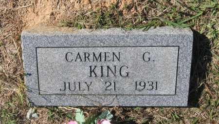 KING, CARMEN GWENDOLYN - Lawrence County, Arkansas | CARMEN GWENDOLYN KING - Arkansas Gravestone Photos