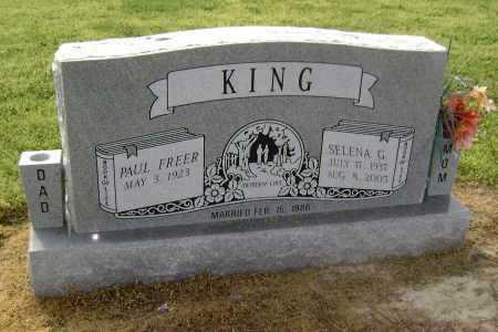FRANCIS KING, SELENA GRACE - Lawrence County, Arkansas | SELENA GRACE FRANCIS KING - Arkansas Gravestone Photos