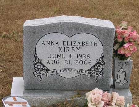 LEE KIRBY, ANNA ELIZABETH - Lawrence County, Arkansas | ANNA ELIZABETH LEE KIRBY - Arkansas Gravestone Photos