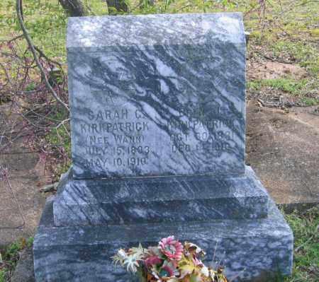 WANN KIRKPATRICK, SARAH C. - Lawrence County, Arkansas | SARAH C. WANN KIRKPATRICK - Arkansas Gravestone Photos