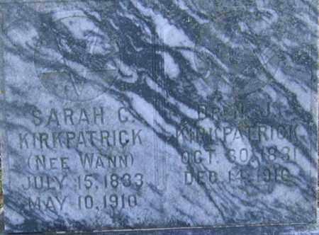 KIRKPATRICK (VETERAN CSA), N. JOHN - Lawrence County, Arkansas   N. JOHN KIRKPATRICK (VETERAN CSA) - Arkansas Gravestone Photos