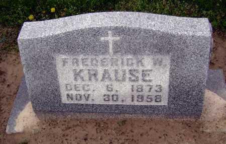 KRAUSE, FREDERICK W. - Lawrence County, Arkansas | FREDERICK W. KRAUSE - Arkansas Gravestone Photos