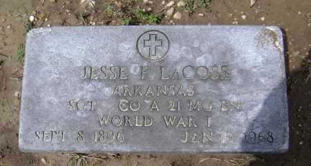 LACOSS  (VETERAN WWI), JESSE FRANKLIN - Lawrence County, Arkansas | JESSE FRANKLIN LACOSS  (VETERAN WWI) - Arkansas Gravestone Photos