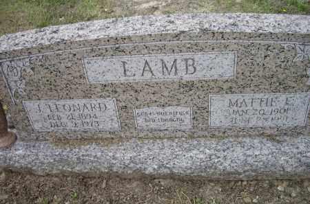 LAMB, MATTIE E. - Lawrence County, Arkansas | MATTIE E. LAMB - Arkansas Gravestone Photos