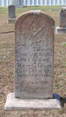 LAMBERT, GEORGE W. - Lawrence County, Arkansas | GEORGE W. LAMBERT - Arkansas Gravestone Photos